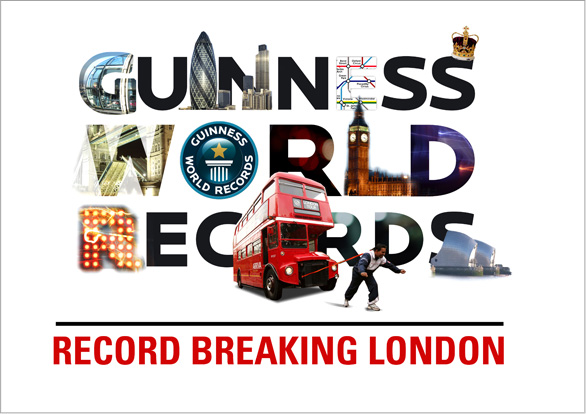 Record Breaking London: Branding poster