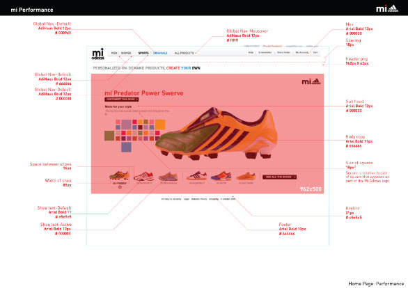 miadidas web guidelines