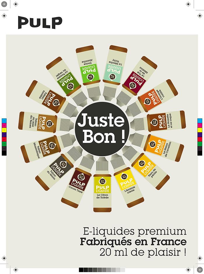 Logo design and Branding development for Pulp Liquide E cigarettes