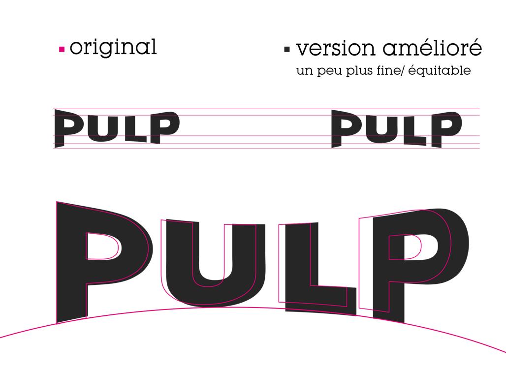 Pulp Liquid- logo development