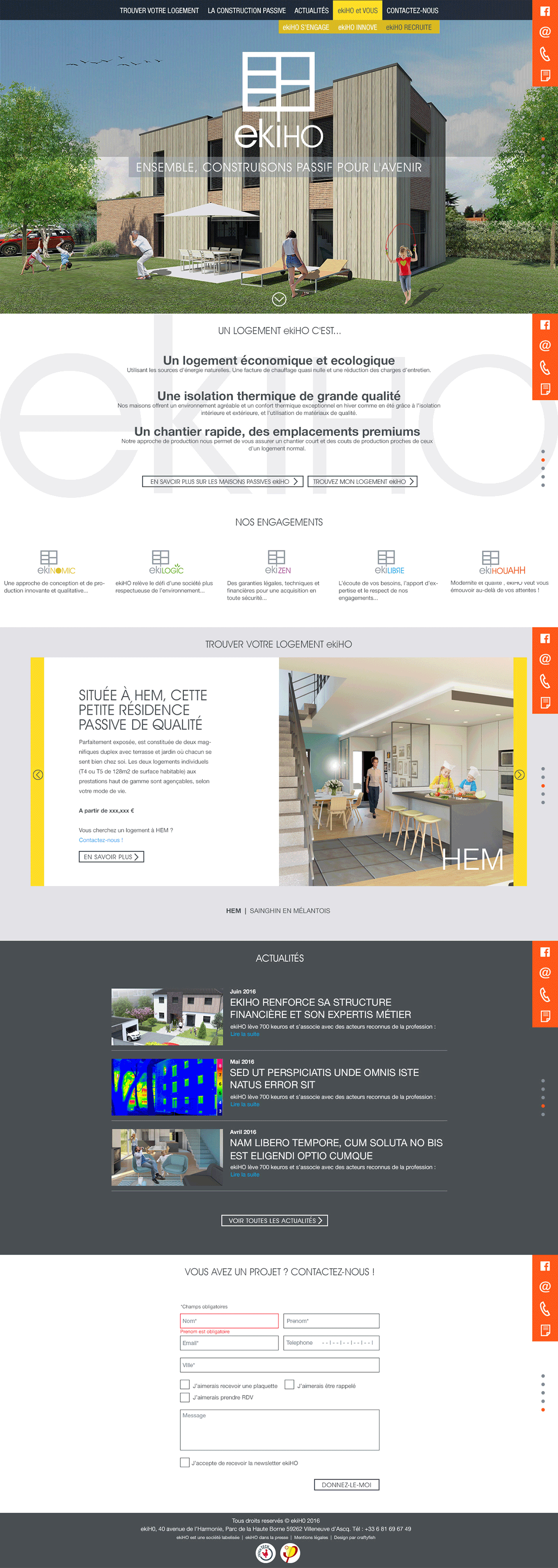 ekiHO passive housing. Branding and website design