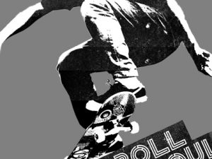 """I Roll With Soul"" Skateboard stencil T-Shirt"